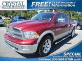 2011 Deep Cherry Red Crystal Pearl Dodge Ram 1500 Laramie Quad Cab #86260742