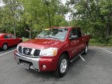 Red Brawn Nissan Titan in 2007
