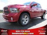 2014 Deep Cherry Red Crystal Pearl Ram 1500 Sport Crew Cab #86283779