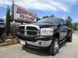 2007 Brilliant Black Crystal Pearl Dodge Ram 3500 SLT Quad Cab 4x4 Dually #86283898