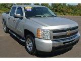 2011 Sheer Silver Metallic Chevrolet Silverado 1500 LS Crew Cab #86283943