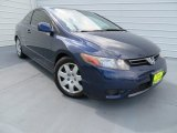2007 Royal Blue Pearl Honda Civic LX Coupe #86314315