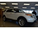 2014 White Platinum Ford Explorer Limited #86314259