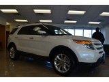 2014 White Platinum Ford Explorer Limited #86314259