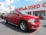 2010 Inferno Red Crystal Pearl Dodge Ram 1500 Sport Crew Cab #86354071