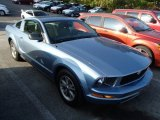 2005 Windveil Blue Metallic Ford Mustang V6 Premium Coupe #86354550