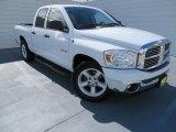 2008 Bright White Dodge Ram 1500 Lone Star Edition Quad Cab #86354220