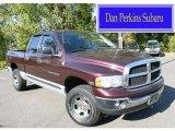 2005 Deep Molten Red Pearl Dodge Ram 1500 SLT Quad Cab 4x4 #86353921