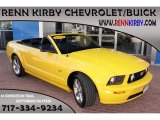 2006 Screaming Yellow Ford Mustang GT Premium Convertible #86401796