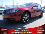 2014 Deep Cherry Red Crystal Pearl Chrysler 200 Limited Sedan #86401465