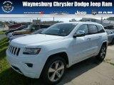 2014 Bright White Jeep Grand Cherokee Overland 4x4 #86401640
