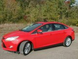 2012 Race Red Ford Focus SEL Sedan #86401360