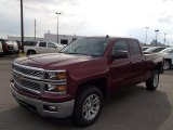 2014 Deep Ruby Metallic Chevrolet Silverado 1500 LT Double Cab 4x4 #86401556