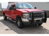 2003 Red Clearcoat Ford F250 Super Duty Lariat Crew Cab 4x4 #86401945