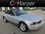 2007 Satin Silver Metallic Ford Mustang V6 Deluxe Convertible #86401260