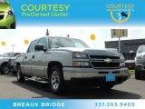 2006 Silver Birch Metallic Chevrolet Silverado 1500 LS Crew Cab #86451225