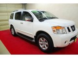 Blizzard White Nissan Armada in 2012