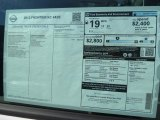 2013 Nissan Frontier S King Cab Window Sticker
