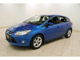 Blue Candy Metallic Ford Focus in 2012