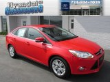 2012 Race Red Ford Focus SEL Sedan #86450464