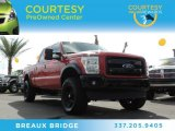 2012 Vermillion Red Ford F250 Super Duty Lariat Crew Cab 4x4 #86451227