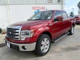 2013 Ruby Red Metallic Ford F150 Lariat SuperCrew #86530573