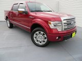 2013 Ruby Red Metallic Ford F150 Platinum SuperCrew 4x4 #86530715