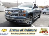 2014 Blue Granite Metallic Chevrolet Silverado 1500 LT Double Cab 4x4 #86559075