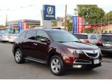 2011 Dark Cherry Pearl Acura MDX Technology #86558871