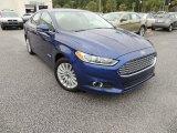 2013 Deep Impact Blue Metallic Ford Fusion Hybrid SE #86559178