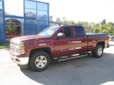 2014 Deep Ruby Metallic Chevrolet Silverado 1500 LT Double Cab 4x4 #86558931
