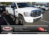 2008 Bright White Dodge Ram 3500 SLT Quad Cab 4x4 #86558733