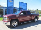 2014 Deep Ruby Metallic Chevrolet Silverado 1500 LTZ Z71 Double Cab 4x4 #86558930