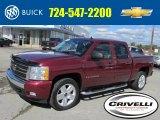 2008 Deep Ruby Metallic Chevrolet Silverado 1500 LT Crew Cab 4x4 #86559253