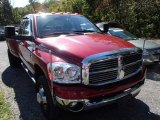 2008 Inferno Red Crystal Pearl Dodge Ram 3500 Laramie Quad Cab 4x4 Dually #86558826