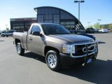 2012 Mocha Steel Metallic Chevrolet Silverado 1500 Work Truck Regular Cab #86615849