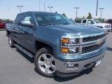 2014 Blue Granite Metallic Chevrolet Silverado 1500 LT Crew Cab 4x4 #86615730