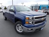 2014 Blue Topaz Metallic Chevrolet Silverado 1500 LT Crew Cab 4x4 #86615712