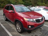 2011 Spicy Red Kia Sorento EX V6 AWD #86616177