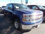 2014 Blue Topaz Metallic Chevrolet Silverado 1500 LT Crew Cab 4x4 #86615817