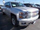 2014 Silver Ice Metallic Chevrolet Silverado 1500 LT Crew Cab 4x4 #86615798