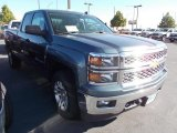 2014 Blue Granite Metallic Chevrolet Silverado 1500 LT Double Cab 4x4 #86615796
