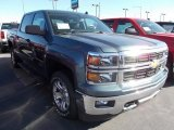 2014 Blue Granite Metallic Chevrolet Silverado 1500 LT Crew Cab 4x4 #86615787