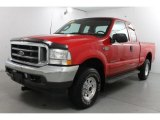 2003 Red Clearcoat Ford F250 Super Duty XLT SuperCab 4x4 #86615256