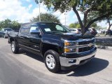 2014 Black Chevrolet Silverado 1500 LTZ Crew Cab 4x4 #86676579