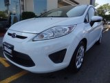 2013 Oxford White Ford Fiesta SE Hatchback #86676460