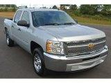 2013 Silver Ice Metallic Chevrolet Silverado 1500 LT Crew Cab #86676453