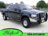 2004 Dark Green Satin Metallic Ford F250 Super Duty XLT Crew Cab 4x4 #8659250
