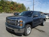 2014 Blue Granite Metallic Chevrolet Silverado 1500 LT Double Cab 4x4 #86676169