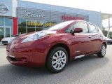 2013 Cayenne Red Nissan LEAF S #86676352